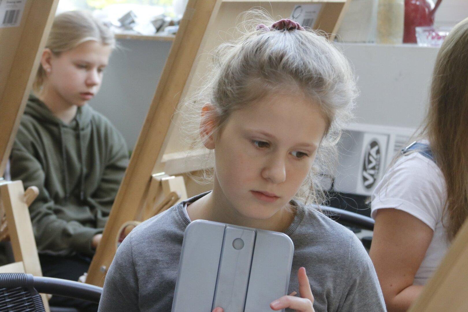 Portreekunsti alused lastele, vanus 9-11
