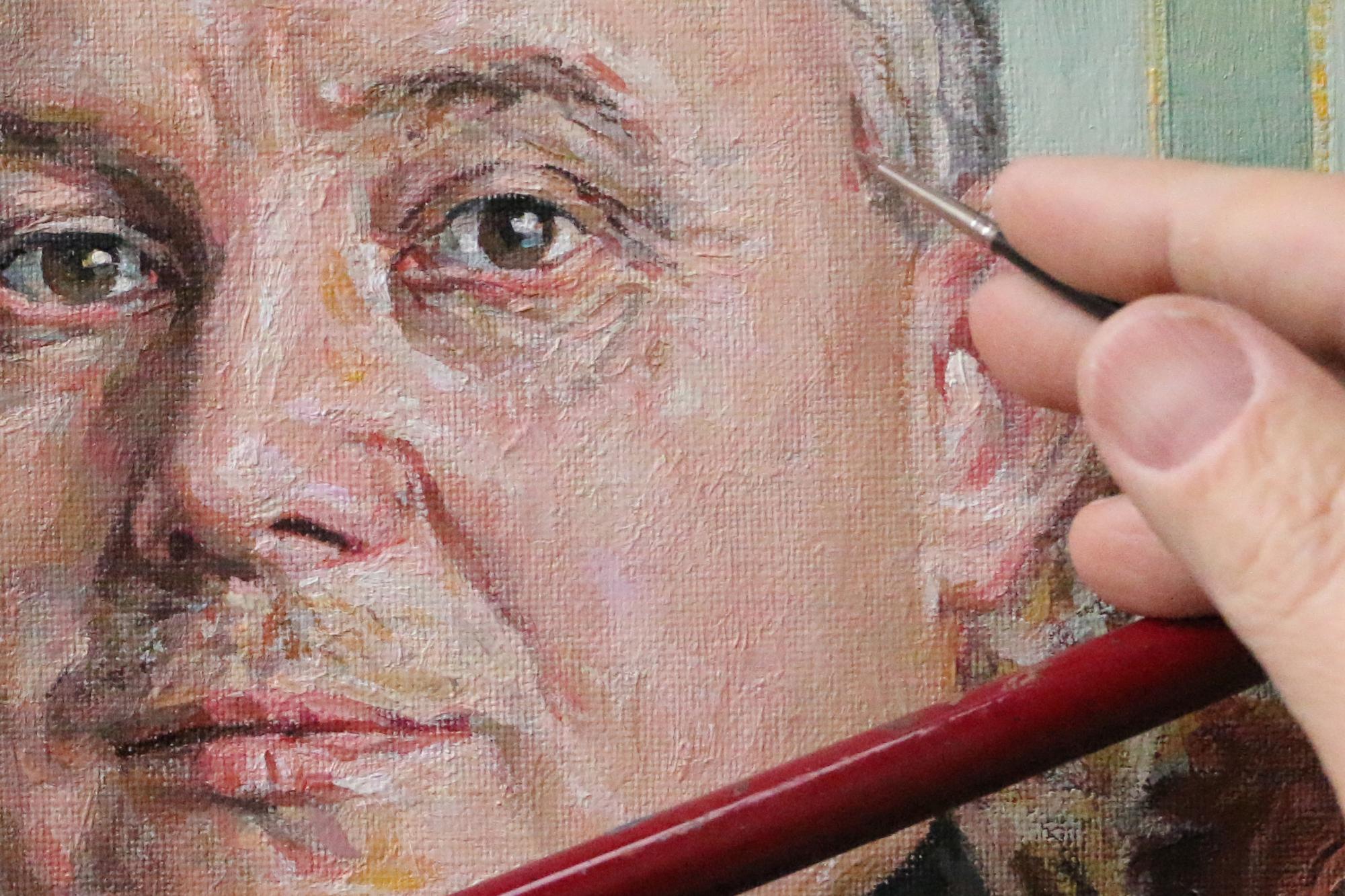 Detailne portreemaal foto pealt - Kursus Sauel