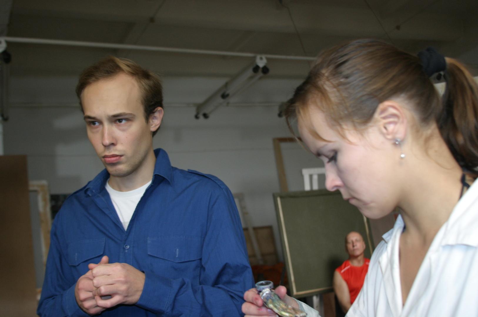 Portreekursus Eesti Kunstiakadeemia maali magistrantidele