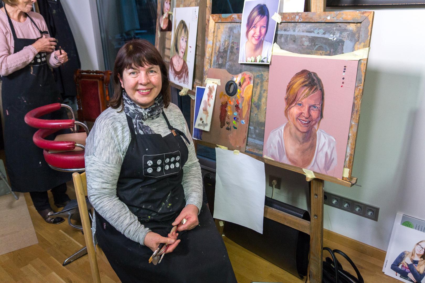 Detailne portreemaal foto pealt – Kursus Sauel