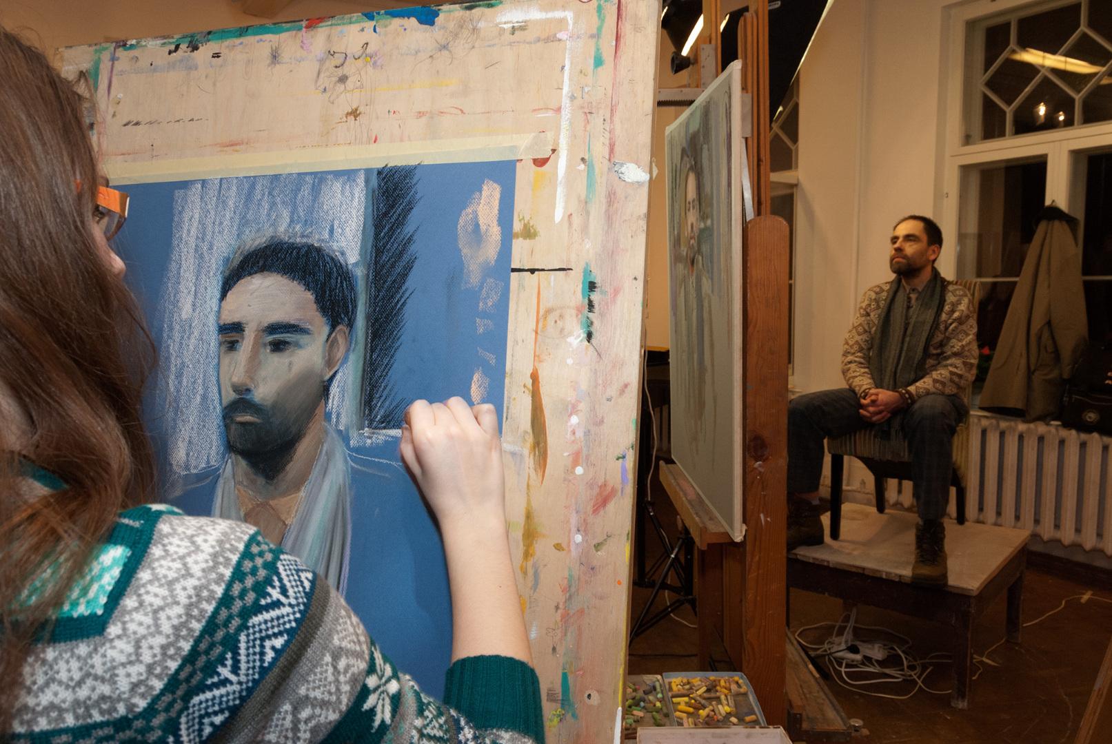 Avatud portreekursus Tartu Lastekunstikooli õpetajatele ja õpilastele