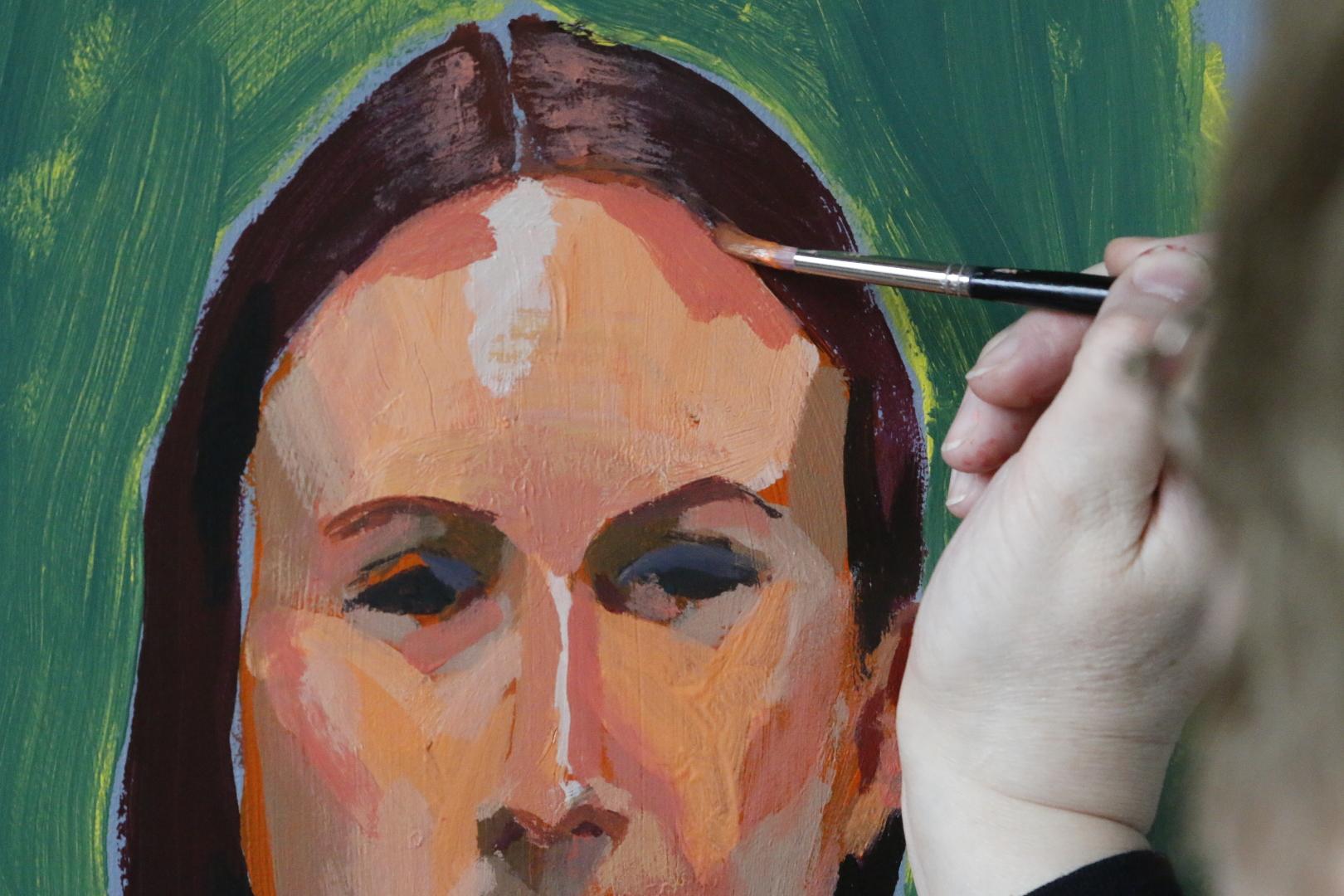 Erakursus, portree profiklassi akrüülidega