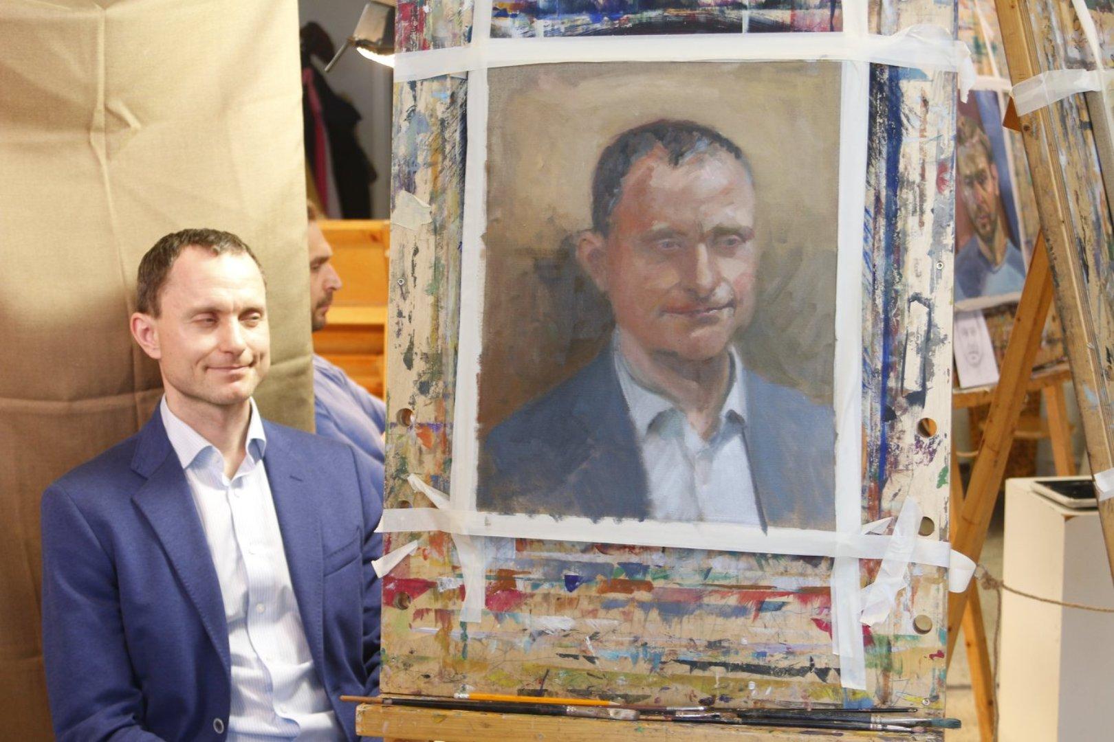 Portreemaali värviline vormiõpetus