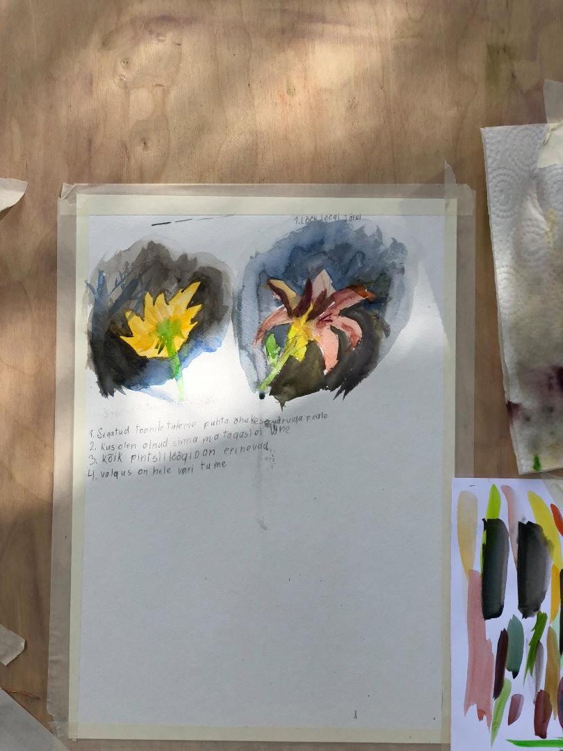 LASTE SUVEKURSUS. Akvarell – läbipaistev kujutamine