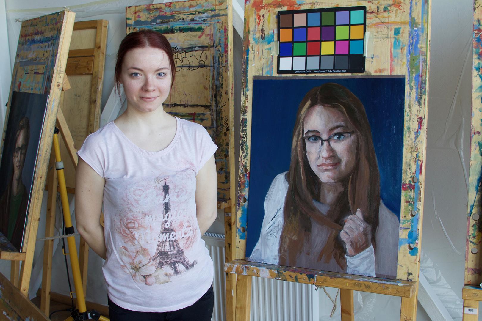 Portreekursus oma modelliga