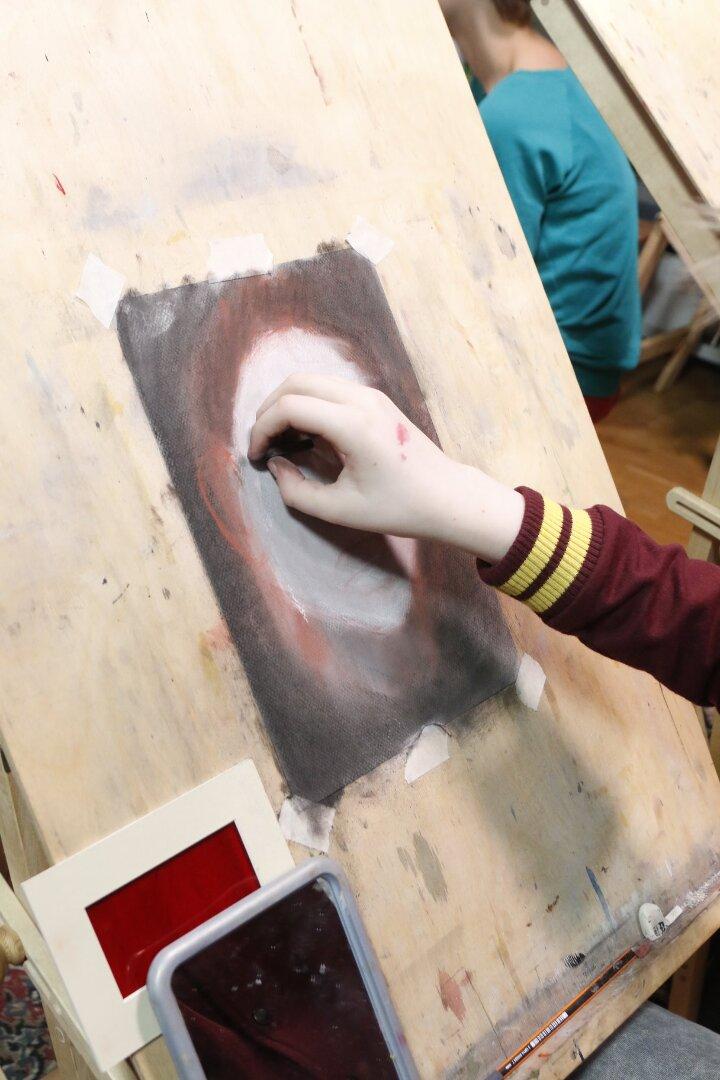 Portreekursus Põlva Kunstikoolile