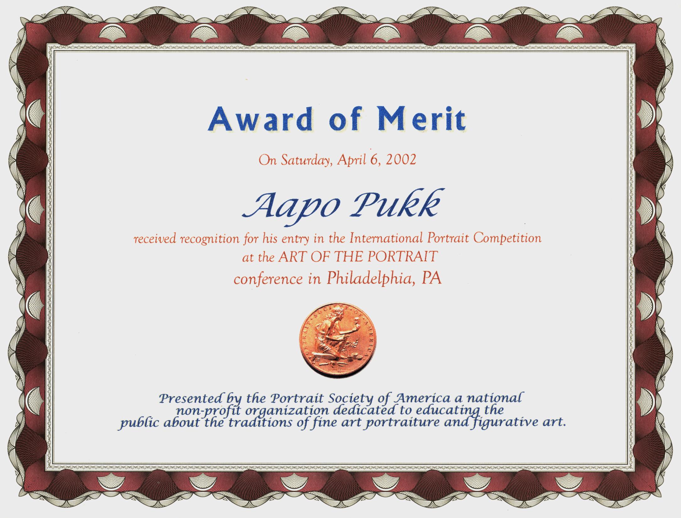 award-of-merit